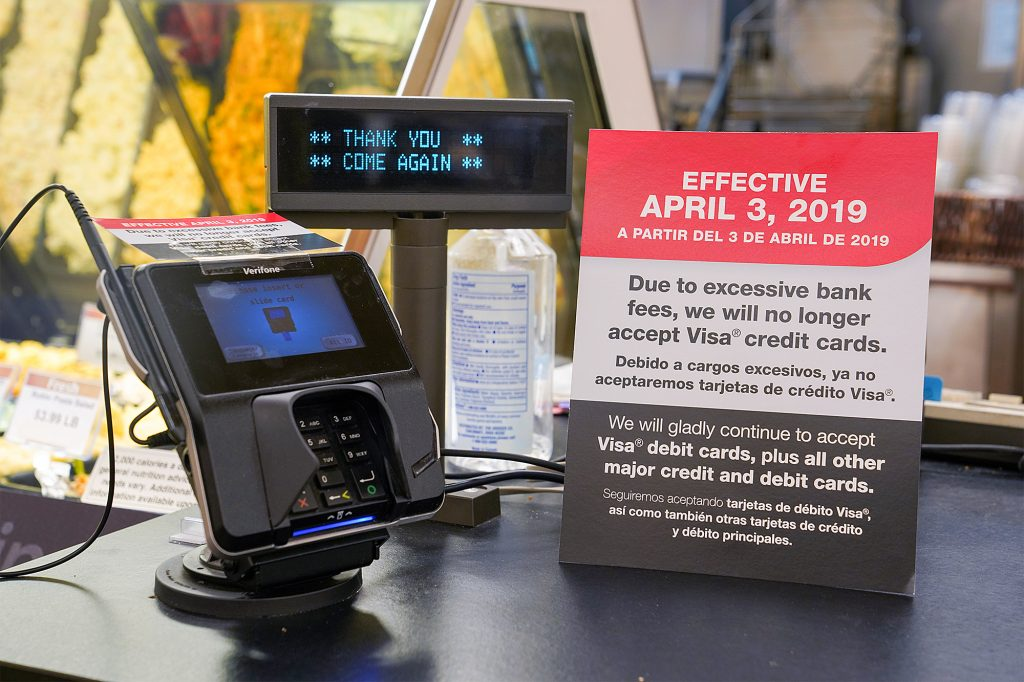 "Kroger bans Visa credit card payments due to ""excessive fees"""