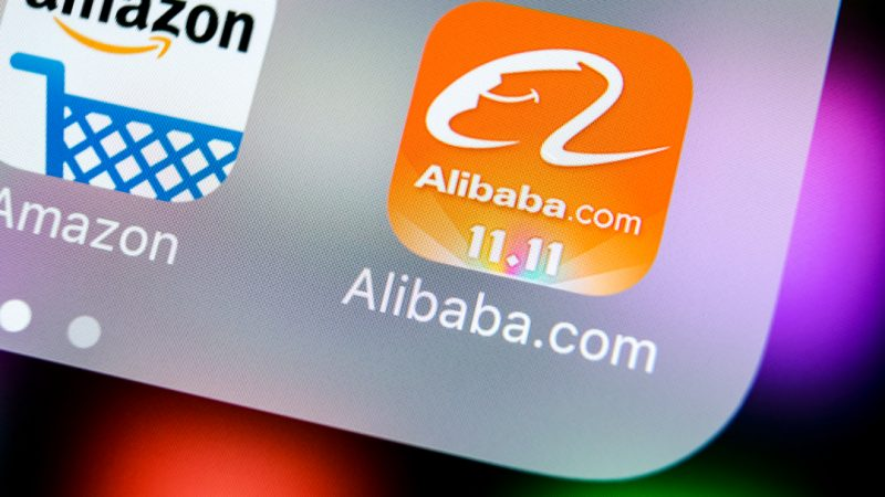 Alibaba has seen its shares jump nearly eight per cent this morning despite it being slapped with a record $2.8 billion antitrust fine by Chinese regulators.