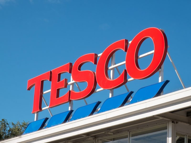 Tesco is allowing shoppers to queue inside their cars when it is raining in order for shoppers to maintain social distancing measures.