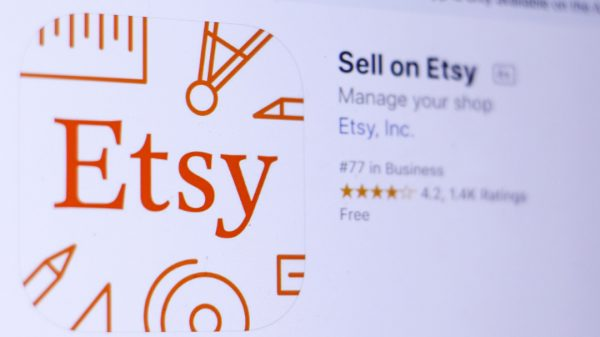 Etsy's shares have dropped seven per cent despite profits and sales rising during its second quarter as the ecommerce site failed to meet expectations.