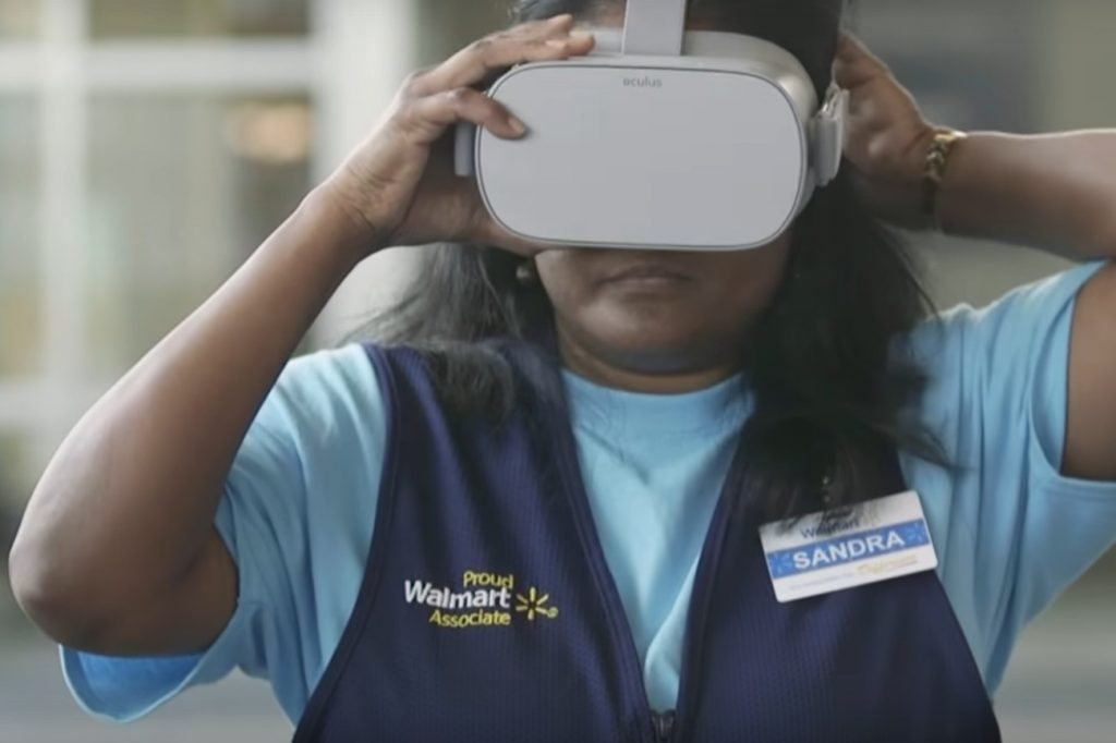 Walmart is using VR to determine if staff are ready for a promotion