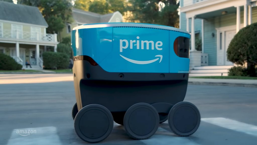 Amazon's new delivery robots may be on the move, but don't expect to see them in the UK any time soon