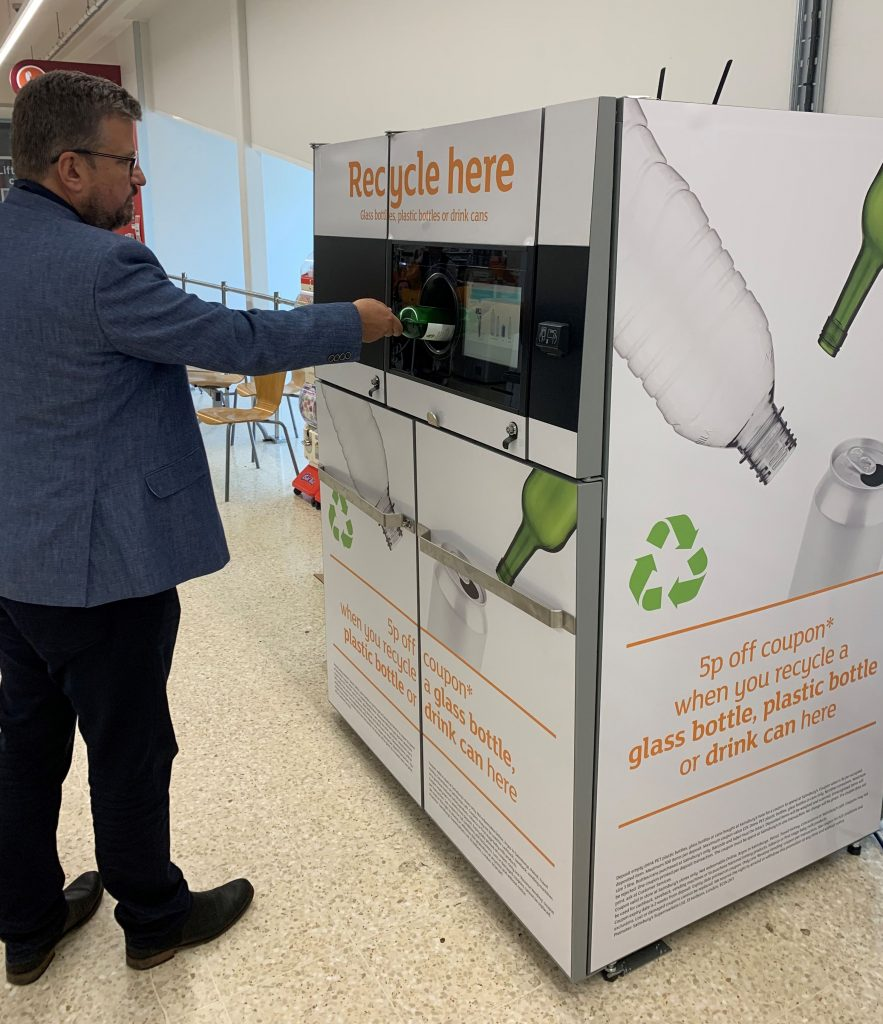 "Sainsbury's to accept glass bottles in reverse vending machines in ""landmark trial"""