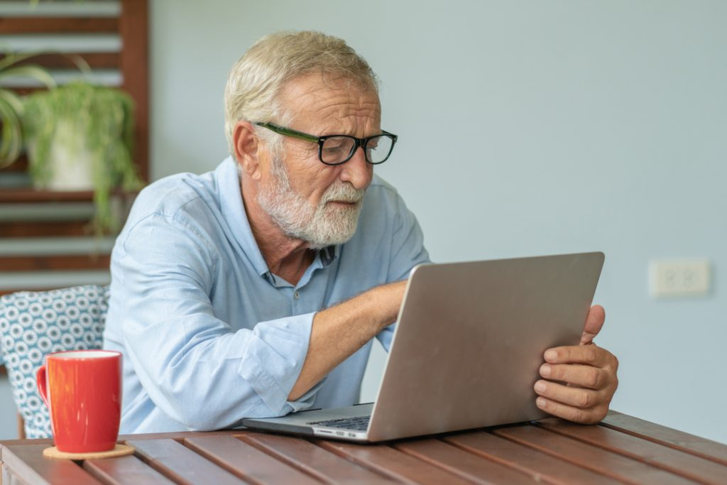 54% of pensioners now shop online