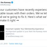 Rent the Runway's head of supply chain will step down at the end of the month following a torrent of customer complaints over missed and late shipments.