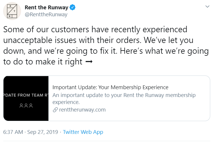 Rent the Runway's head of supply chain departs after delivery chaos