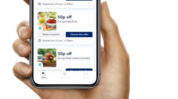 Co-op has launched a new app giving its 4.6 million members access to weekly personalised offers and the ability to track their member reward balance.