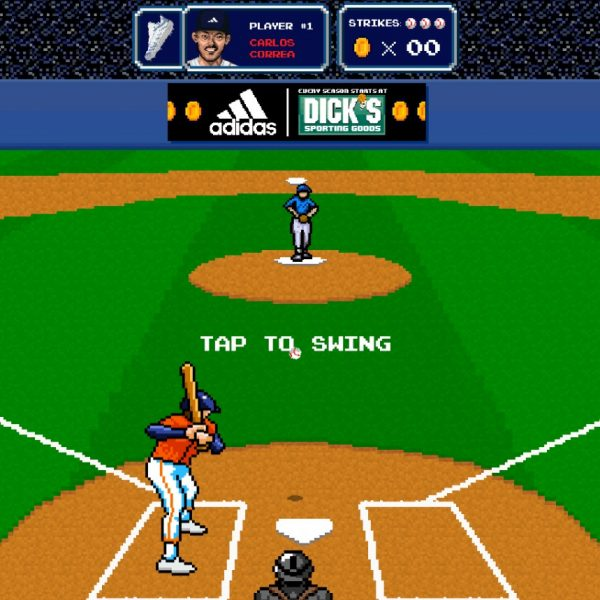 Adidas has become the first retailer to sell items directly to consumers through Snapchat, as it launches a new 8-bit baseball game.