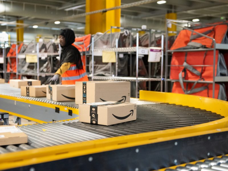 """Amazon warehouse workers in the UK have complained that the company has become a """"living hell to work for"""" as they face a surge in demand."""