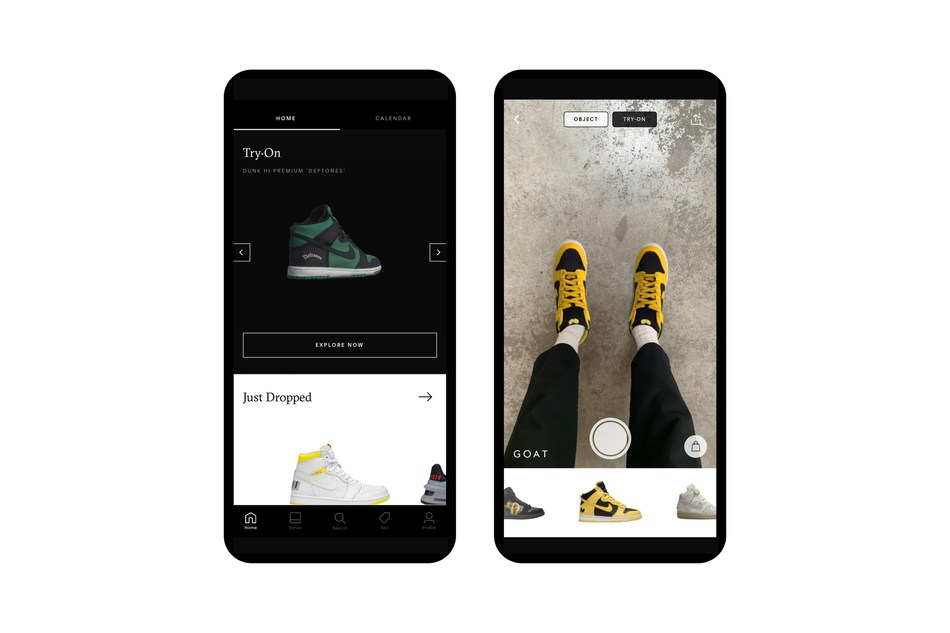 "GOAT launches AR ""Try-On"" feature so you can try on the world's rarest trainers"
