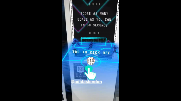 Adidas new flagship store on London's Oxford Street has unveiled three new augmented reality (AR) experiences which shoppers can play via Instagram.