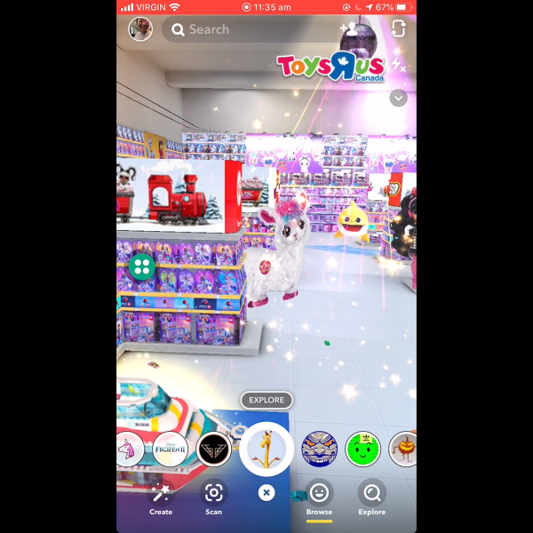 """Toys R Us has become the latest retailer to utilise Snapchat as it launches an """"augmented reality (AR) store"""" where its toys come to life."""