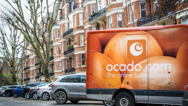 Ocado's share price has crashed 2.6 per cent in morning trading after its group profits dropped by 36 per cent despite seeing a huge boost in sales during lockdown.