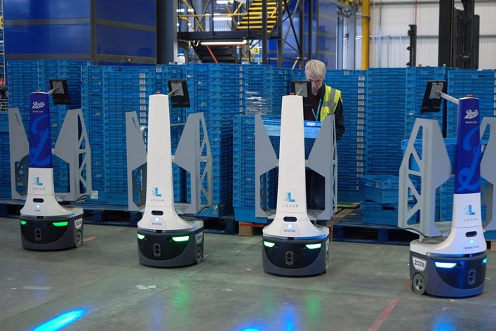 """Boots deploys 135 """"cobots"""" to help fulfill millions of orders this holiday season"""