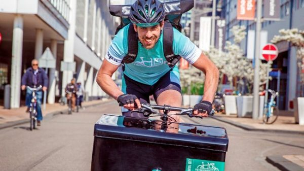 H&M is set to start delivering orders via bicycle in over 30 cities in its latest push to establish its sustainability credentials.