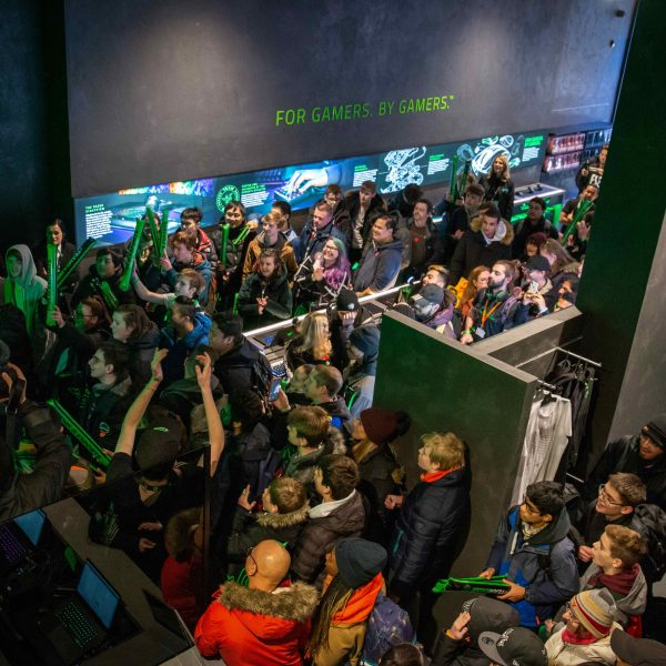 Razer opened its largest store in the world to date in the heart of London's West End on Saturday drawing hundreds of fans from across the UK.
