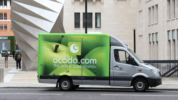Ocado could soon be delivering groceries via driverless vehicles and robots which carry your order to your door.