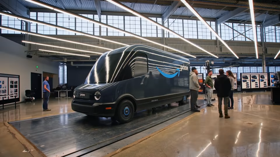Amazon unveils new high-tech electric delivery fleet