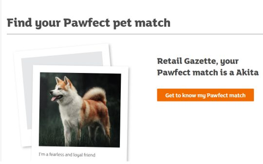 Sainsbury's has launched a new online tool for customers to find their perfect breed of cat or dog before committing to purchase after finding that 22 per cent regret their choice.