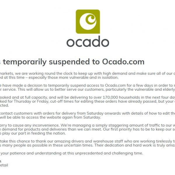 Ocado Website Down