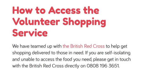 The British Red Cross and Huggg have launched a new digital volunteer shopping service helping vulnerable shoppers without nearby friends or family access groceries.