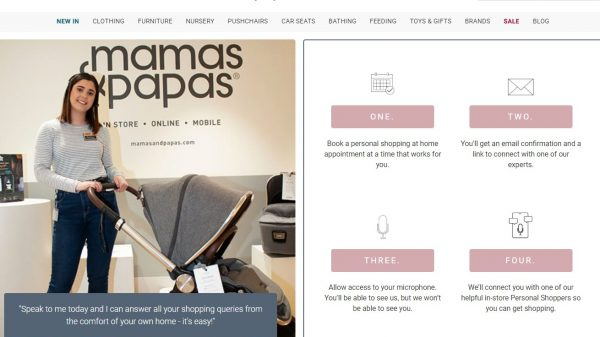 "Mamas & Papas has launched the ""UK's first"" virtual personal shopping service for customers stuck inside during lockdown."