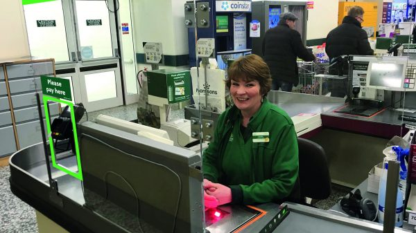 Morrisons has installed large plastic screens at its tills in all of its stores in order to protect its staff and promote social distancing measures.