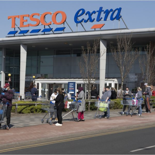 Tesco has become the latest major supermarket to introduce a traffic light system across its stores to limit the number of shoppers and help maintain social distancing.