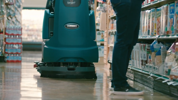 Asda has become the first supermarket in the UK to roll out autonomous cleaning robots helping prevent the spread of COVID-19.