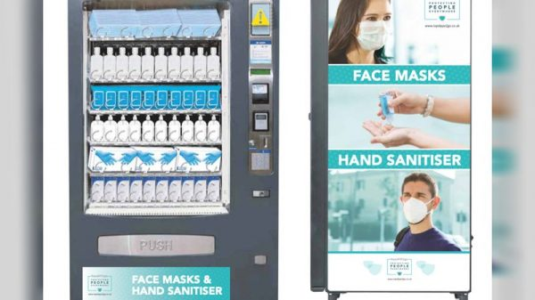 PPE vending machines selling everything from reusable face masks to hand sanitiser are continuing to pop up across the UK thanks to startup RapidPPE2go.