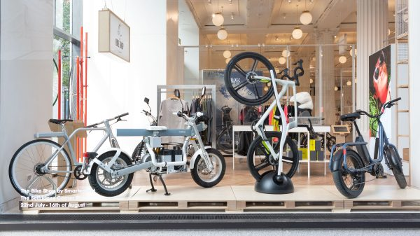 "Selfridges has launched the ""bike shop of the future"" at its pop-up Corner Shop store selling a range of high-tech e-bikes."