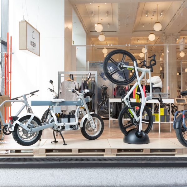 """Selfridges has launched the """"bike shop of the future"""" at its pop-up Corner Shop store selling a range of high-tech e-bikes."""