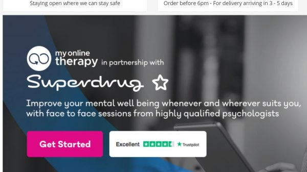 "Superdrug has partnered with My Online Therapy to ""ensure a highly credible and qualified mental health service is readily available"" for customers."