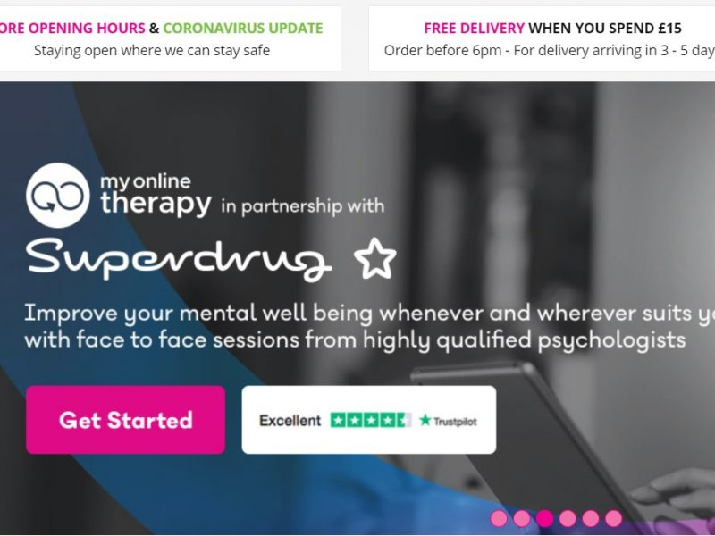 """Superdrug has partnered with My Online Therapy to """"ensure a highly credible and qualified mental health service is readily available"""" for customers."""