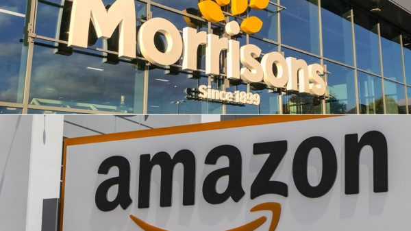 Morrisons online sales grew more than any other UK supermarket in December as its partnerships with Amazon and Deliveroo supercharged sales.