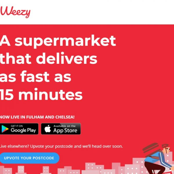 Weezy has officially launched in London offering customers grocery deliveries in as little as 15 minutes.