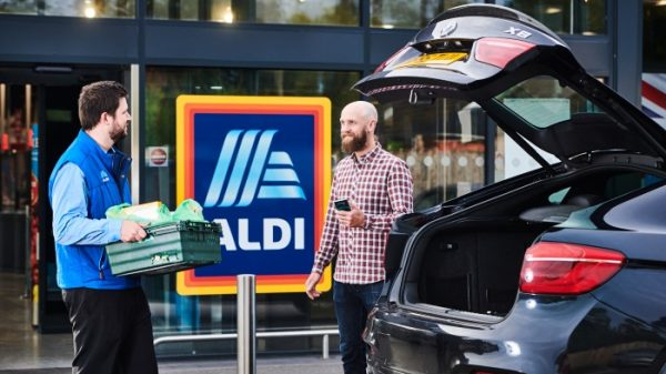 "Aldi's goods will be available to purchase online in the UK for the first time today as the discounter goes live with its new ""click-and-collect"" service."