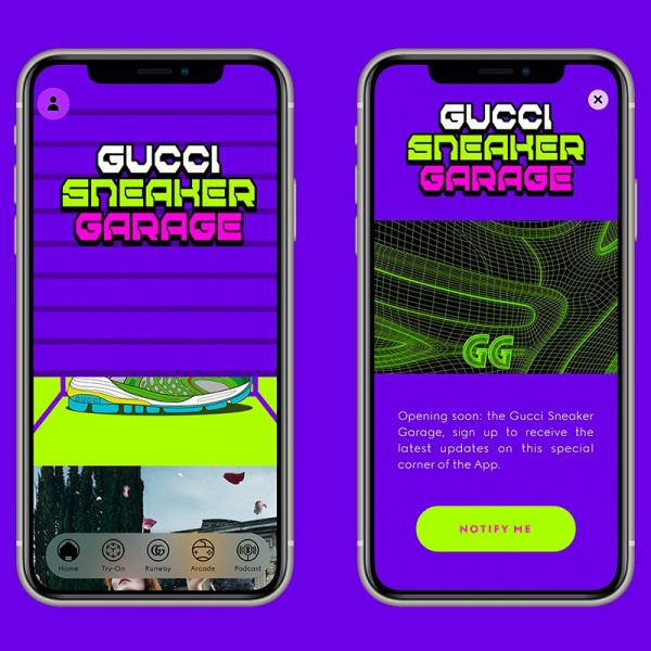 Gucci is set to launch an experimental virtual sneaker creation app allowing customers to virtually try on their creations or dress their digital avatars.