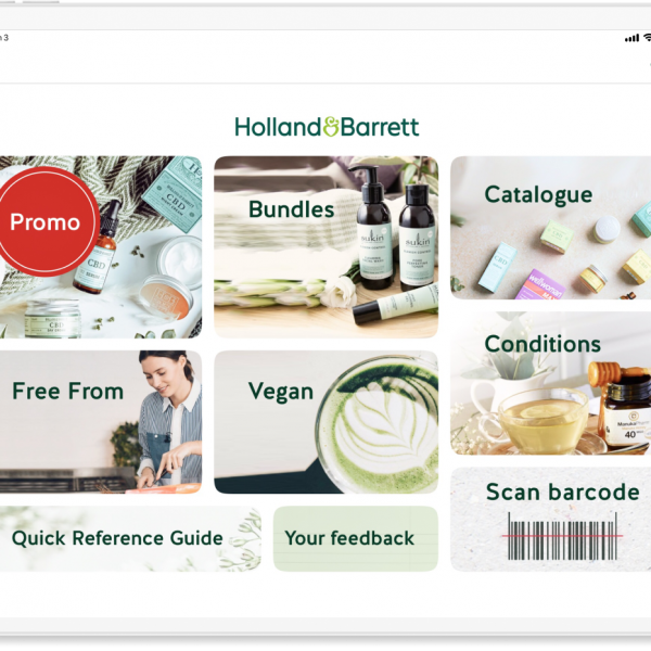 Holland & Barrett customers can now place their orders while queuing outside stores thanks to a new technology partnership with Mercaux.