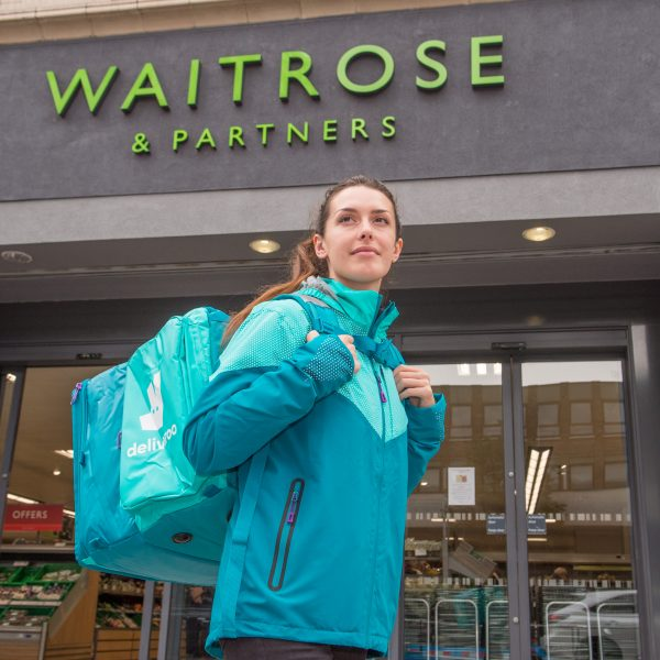 """Waitrose is scrapping its two-hour delivery service 'Rapid' so it can """"focus solely on (its) Deliveroo partnership""""."""