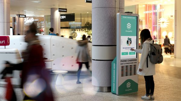 Westfield has signed a five-year partnership with ChargedUp allowing shoppers to securely charge their phones while they shop.