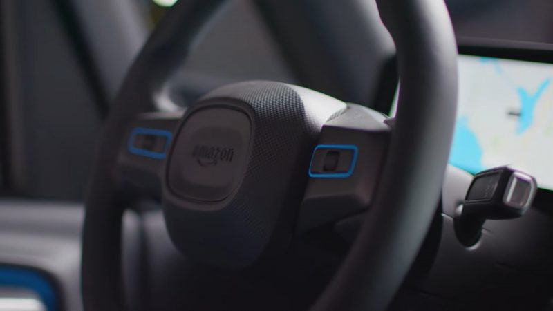 """Amazon has debuted its first """"state-of-the-art"""" electric delivery vans developed in partnership with Rivian featuring """"industry leading safety, navigation and design features""""."""