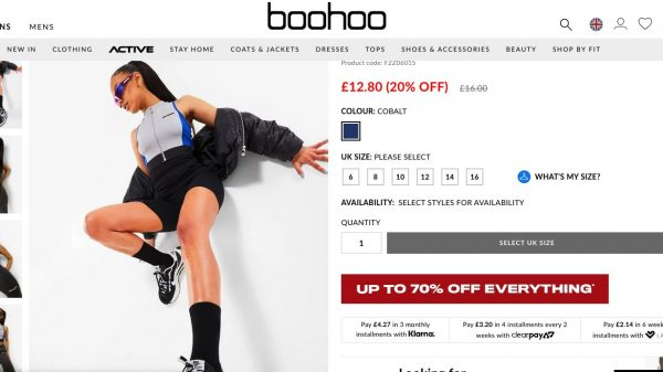 Asos has mocked its fast fashion rival Boohoo after it posted promotional shots of a model wearing Asos branded items.