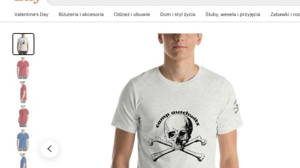 "Etsy is facing a furious social media backlash and calls for a boycott after it was found to be selling a ""Camp Auschwitz"" t-shirt on its platform."