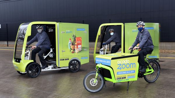 "Ocado is adding a fleet of electric assisted delivery vehicles to its rapid one-hour delivery service amid plans to reduce emissions while ""delivering groceries to our customers as fast as possible""."