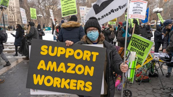 "Amazon's conduct during its landmark union vote this month ""could be grounds for overturning the vote"" according to the National Labour Relations Board (NLRB)."