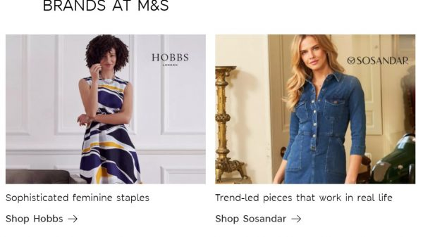 Marks & Spencer has officially launched ranges from Phase Eight, Hobbs and Sosandar on its online fashion platform as it seeks to reinvent itself as a fashion platform.