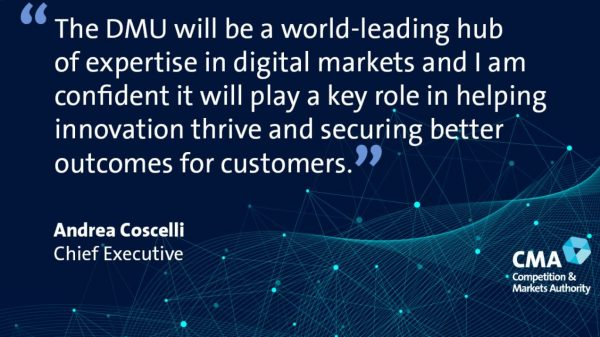 "The Digital Markets Unit (DMU) has been launched in the UK today aimed at tackling the ""abuse of dominant market positions by big tech""."