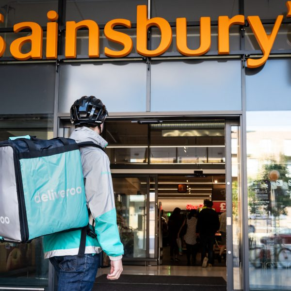 Sainsbury's has announced plans to dramatically expand its partnership with Deliveroo offering rapid delivery from over 100 UK stores.