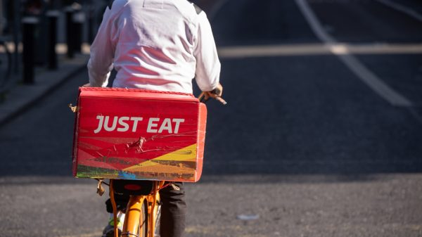 Just Eat Takeaway.com is looking to take a portion of Deliveroo's market share after announcing first quarter orders rose by 79 per cent to 200 million from 112 million a year earlier.